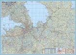 Ламинированная карта Ленобласти