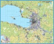Настенные карты СПб и ЛО