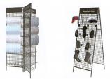 Торговый сетчатый модуль для обоев и Стенд-сетка для обуви