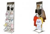 Торговые сетчатые стенды с рубрикаторами и кронштейнами