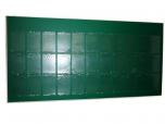Большой настенный информационный стенд на 33 кармана А3 в рамке из алюминиевого профиля Нильсен