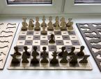 Шахматы сувенирные. Фанера, уф-печать, лазерная резка.