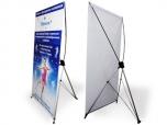 Мобильный стенд Х-баннер размера 1х2 м с полотном виниловый баннер