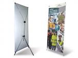 Мобильный стенд Х-баннер Телескопик 80х180см, 65-160см