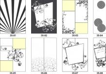 Наклейки на дверь - образец дизайна