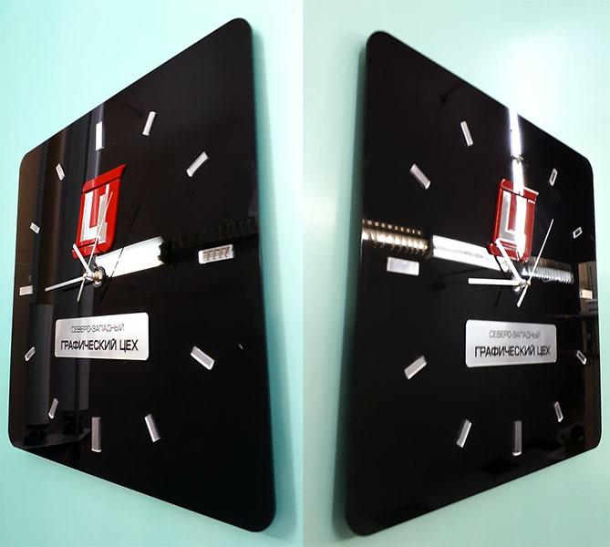 Настенные часы с логотипом-производство в СПб